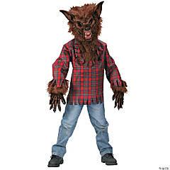 Boy's Brown Werewolf Costume - Large