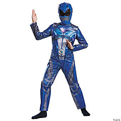 Boy's Classic Blue Ranger Costume - Medium