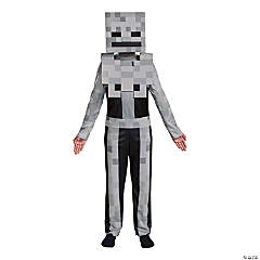Boy's Classic Minecraft Skeleton Costume - Large