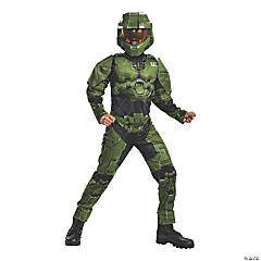 Boy's Classic Muscle Master Chief Infinite Costume - Extra Large