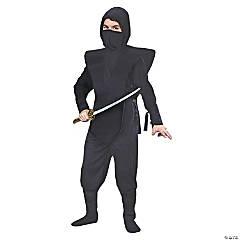 Boy's Complete Black Ninja Costume - Large
