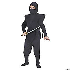 Boy's Complete Black Ninja Costume - Medium