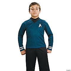 Boy's Deluxe Blue Star Trek Uniform Costume - Medium