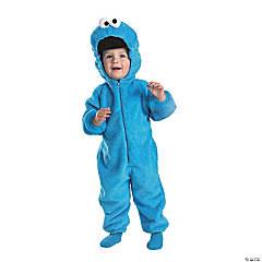 Boy's Deluxe Cookie Monster Plush Jumpsuit