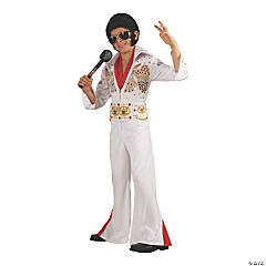 Boy's Deluxe Elvis Presley Eagle Jumpsuit Costume - Small