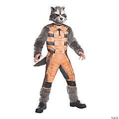 Boy's Deluxe Guardians of the Galaxy Rocket Raccoon Costume - Large