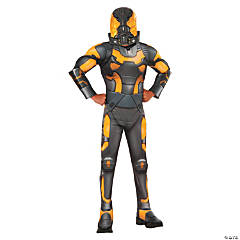 Boy's Deluxe Muscle Chest Ant-Man Yellow Jacket Costume - Large