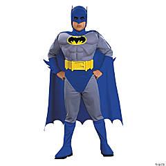 Boy's Deluxe Muscle Chest Batman Costume