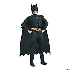 boys deluxe muscle chest dark knight batman costume