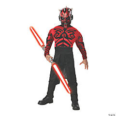 Boy's Deluxe Muscle Chest Star Wars Darth Maul Costume - Medium
