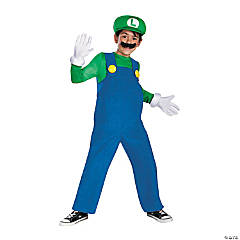 Boy's Deluxe Super Mario Bros.™  Luigi Halloween Costume - Extra Small