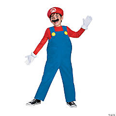 Boy's Deluxe Super Mario Bros.™  Mario Costume - Small