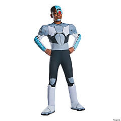 Boy's Deluxe Teen Titans Go Cyborg Costume - Large