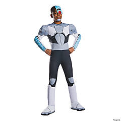 Boy's Deluxe Teen Titans Go Cyborg Costume - Small