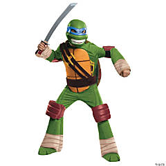 Boy's Deluxe Teenage Mutant Ninja Turtle Leonardo Costume - Large
