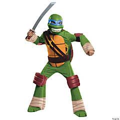 Boy's Deluxe Teenage Mutant Ninja Turtle Leonardo Costume - Medium