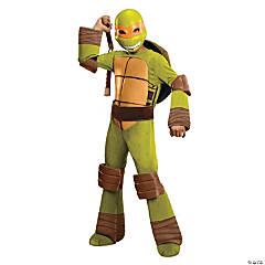 Boy's Deluxe Teenage Mutant Ninja Turtle Michelangelo Costume - Small