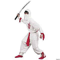 Boy's Deluxe White Ninja Costume