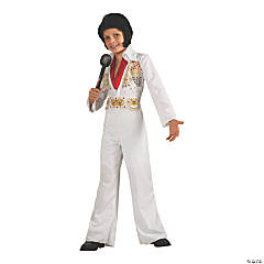 Boy's Elvis Presley Eagle Jumpsuit Costume - Large