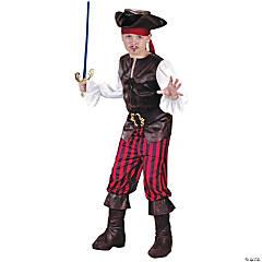 Boy's High Seas Buccaneer Pirate Costume - Small