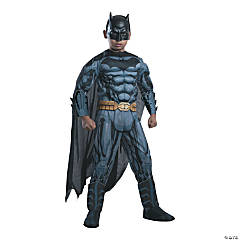Boy's Photo Real Deluxe Muscle Chest Batman Costume