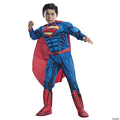 Boy's Photo Real Deluxe Muscle Chest Superman Costume - Small