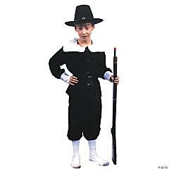 Boy's Pilgrim Boy Costume - Medium