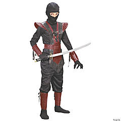 Boy's Red Leather Ninja Fighter Costume