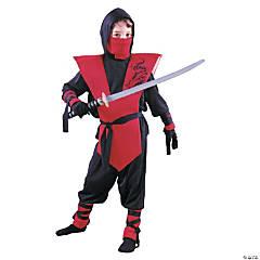 Boy's Red Ninja Costume