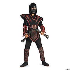 Boy's Red Skull Warrior Ninja Costume - Medium