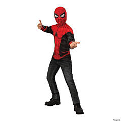 Boy's Spider-Man: Far From Home™ Red & Black Costume Top - Medium