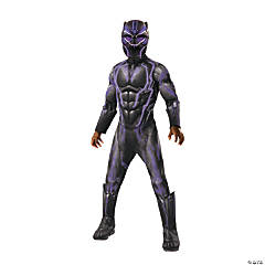 Boy's Super Deluxe Marvel Black Panther™ Light-Up Costume - Small