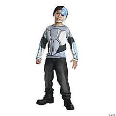 Boy's Teen Titans Cyborg Costume Top - Large