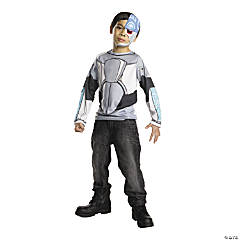 Boy's Teen Titans Cyborg Costume Top - Medium