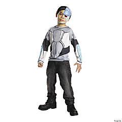 Boy's Teen Titans Cyborg Costume Top - Small