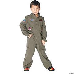Boy's Top Gun Flight Suit Costume - Medium