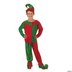 Boy's Velour Elf Costume - Small/Medium