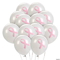 Breast Cancer Awareness Latex Balloons