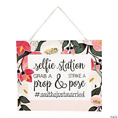 Bridal Selfie Station Sign with Easel