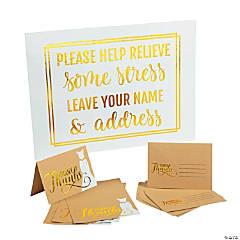 Bridal Shower Thank You Cards & Sign Kit