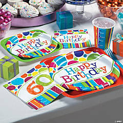 Bright Bold 60th Birthday Party Supplies