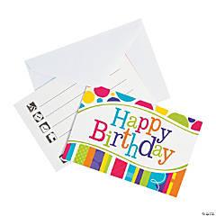 Bright & Bold Birthday Party Invitations