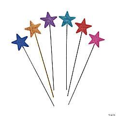 Bright & Glittery Star Wands