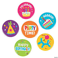 Bright Birthday Buttons