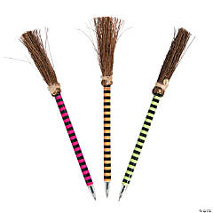 Bright Color Witch Broom Pens