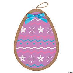 Bright Easter Egg Burlap Door Sign