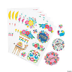 Bright Fiesta Floral Stickers