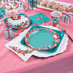 bright floral bridal shower supplies