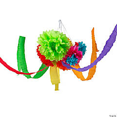 Bright Hanging Flowers with Streamers