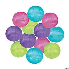 Bright Hanging Paper Lanterns